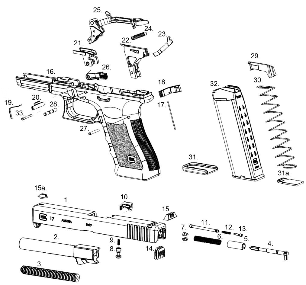 Glock 22 Exploded Diagram Trusted Schematics 1911 Pistol Free Download Wiring Diagrams Pictures 17 Slide Parts U2022 23 Nomenclature